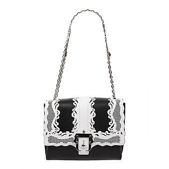 Paula Cademartori Bwg001p1697h1532 Women's White/black Leather Shoulder Bag