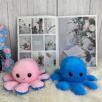 Reversible Flip Octopus Stuffed Plush Doll, Soft Simulation Reversible Plush