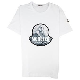 Moncler Maglia Montain Logo T-paita Valkoinen 001