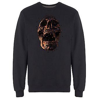 Grunge Copper 3D Skull Sweatshirt Men's -Image by Shutterstock