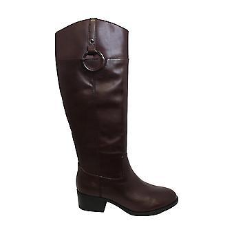 Alfani Womens Bexleyy Leather Almond Toe Knee High Fashion Boots