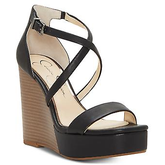 Jessica Simpson Womens Samira2 Open Toe Casual Ankle Strap Sandals