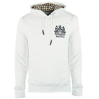 Aquascutum Aldis Logo White Hoodie