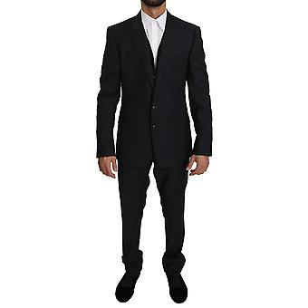 Black single breasted 3 piece martini suit