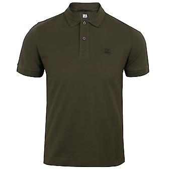 C.p. company men's dark olive polo shirt