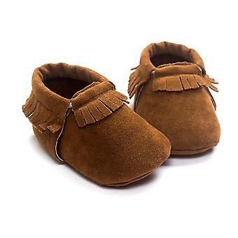 Pu Suede Leather Newborn Baby Moccasins Shoes Soft Soled Non-slip Crib First
