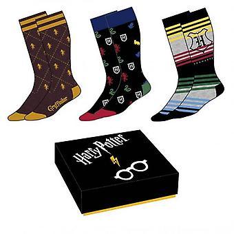 Harry Potter 3pk Socks Gift Box
