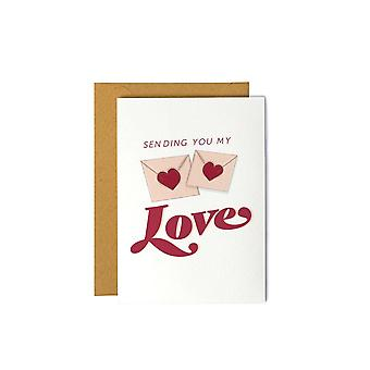 Sending You My Love Greeting Card