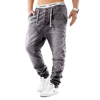 Mäns Jeans byxor Jogging Denim Tube Jogging Denim Jeans byxor bakgård Freestar