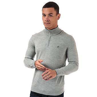 Men's Timberland Merino 1/2 Zip Knit in Grey
