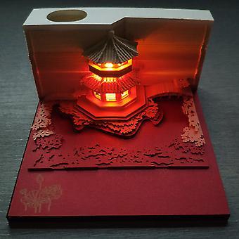 ניירות מדבקות יצירתיות 3D גן גילוף תאורה נוחות יצירתית אדריכלית