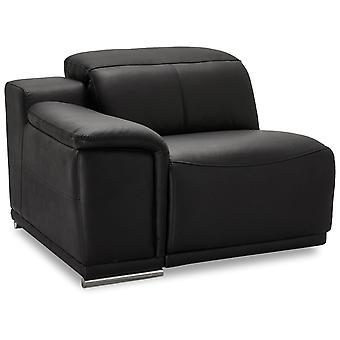 Ibbe Design Alexa 1 Seater Arm Letf Black Leather No Function, 105x102x73 cm