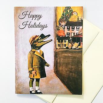Alligator Holiday Card Or Card Set