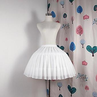 الكرة ثوب Underskirt فستان قصير Cosplay Petticoat الشيفون سحب العظام الباليه