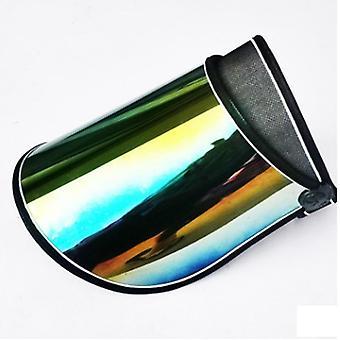 Unisex Casual Summer Sun Cap, Plastic Pvc Sun Shade Caps