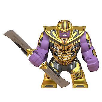 Große Figuren Baustein Super Hero, Thanos, Hulk, Eisen, Spiderman, Batman,