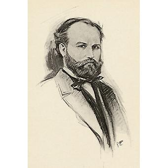Charles Franois Gounod 1818-1893 orgelcomponist portret door Chase Emerson Amerikaanse kunstenaar 1874-1922 PosterPrint