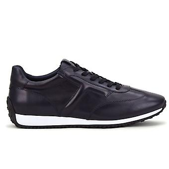 Tod's Dark Blue Sneaker i raffinerat smooth leather