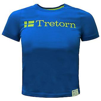 Tretorn Kids T-Shirt Logo Juniors Short Sleeved Tee Blue Top 475511 87