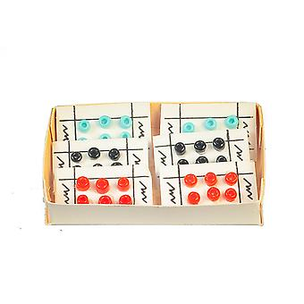 Dolls House Box Of Buttons On Card Haberdashery Shop Sewing Room Accessoire