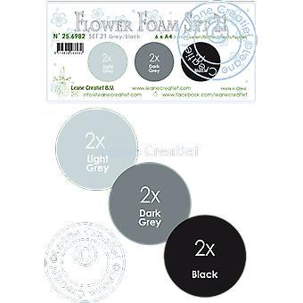 Leane Creatief Flower Foam A4 Set 21 Grey-Black
