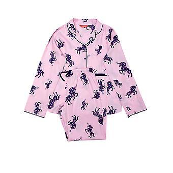 Minijammies Ariana 5675 Girl's Pink Unicorn Cotton Pyjama Set