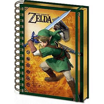 The Legend Of Zelda Link A5 Wirebound Notebook