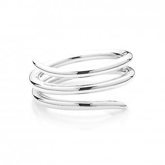 Rachel Galley M304-SV-LG Women's Triple Wrap Ring - Size P