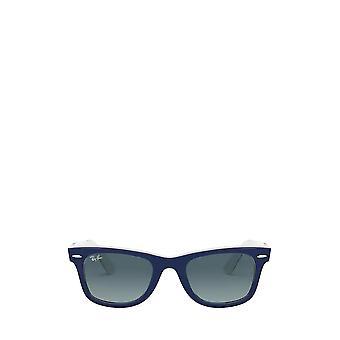 Ray-Ban RB2140 blue on white unisex sunglasses
