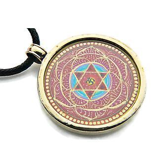 Kedja hänge medaljong mässing guld utan (932-04-017-99)