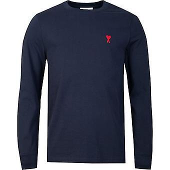 Ami Hart Logo Lange Mouwen T-shirt