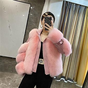 Real Natural Fox Fur Coat