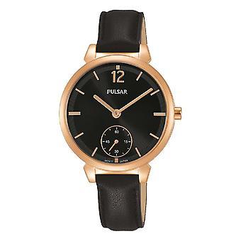 Pulsar Pn4072x1 Rose Guld & Sort læder Ladies Watch
