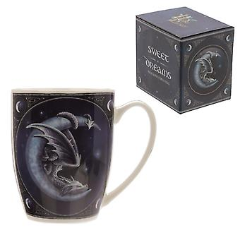 Sweet dreams dragon design lisa parker porcelain mug