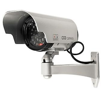 Napelemes hamis kamera Outoodr Dummy Bullet CCTV biztonsági megfigyelő kamera villogó IR LED