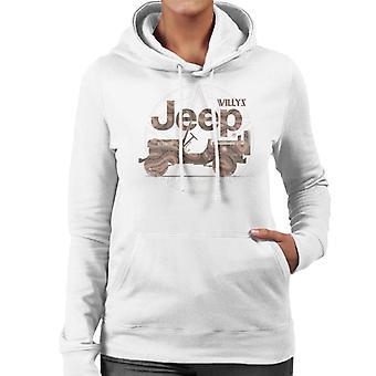 Jeep Willys MA Star Women's Hooded Sweatshirt