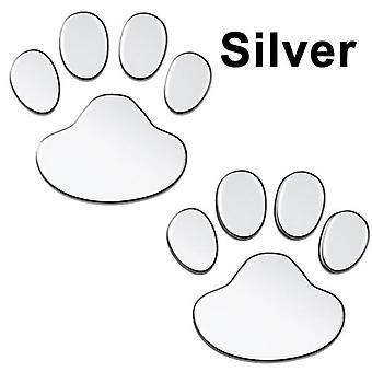 Autocollant de voiture, patte fraîche de conception, impressions 3d de pied d'ours de chat d'animal