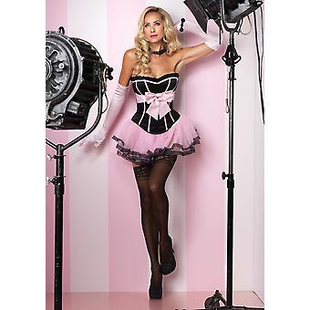 Black/Pink Marilyn Corset