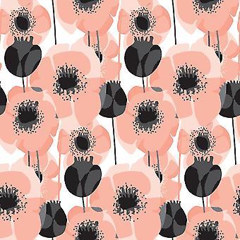 Felt o tapete impresso multicolorido rosa em poliéster, algodão, L100xP200 cm