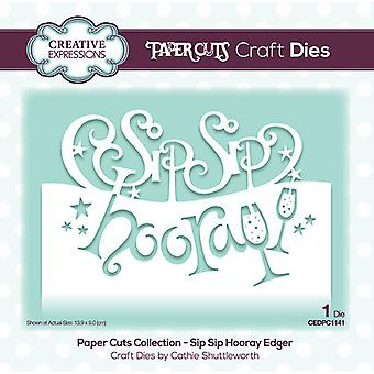 Kreative udtryk Papir Cuts Collection Cutting Dies - Sip Sip Hurra Edger