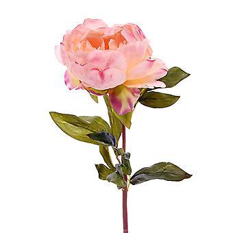 Rosa peonia artificiale (Paeonia) fiore artificiale deluxe 55 cm rosa