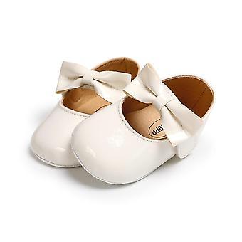 Pu Crib Shoes Anti-slip Bow Sneakers Newborn Baby Soft Sole Prewalker Casual