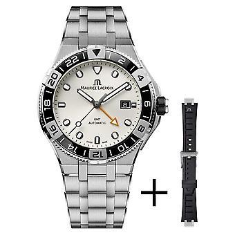 Maurice Lacroix Aikon Venturer GMT 43mm | White Dial | Strap Set AI6158-SS00F-130-A Watch