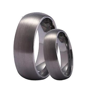 Wolfram 8mm matowe srebrne obrączki