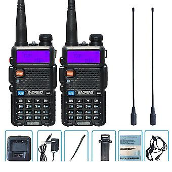 2 stk 8w Baofeng Uv-5r Radio Set Walkie Talkie