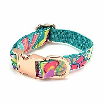Shiny Turquoise Dog Collar & Bow Tie Set