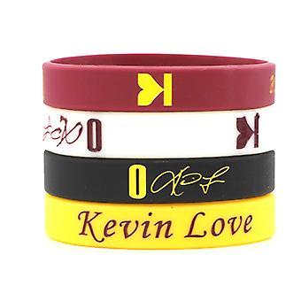 4pcs Kevin Love No. 0 Signature Wristband Basketball Sports Silicone Bracelet