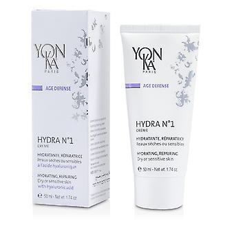 Yonka Age Defense Hydra No.1 Creme With Hyaluronic Acid - Hydrating, Repairing (Dry Or Sensitive Skin) 50ml/1.74oz