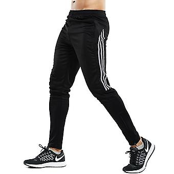 Men Sport Running Plus With Zipper Pockets Workout Training Joggings Trousers