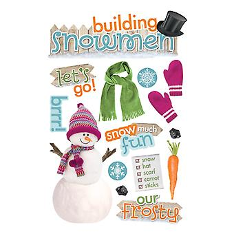 Paper House Productions - 3D Stickers - Building a Snowman